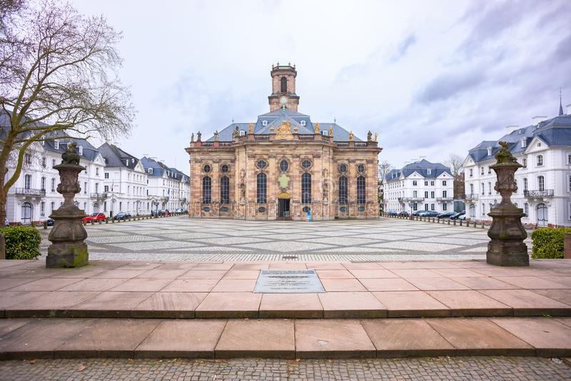 Ludwisgkirche在萨尔布吕肯 免版税库存图片
