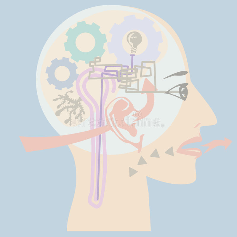 Ludzcy sensy ilustracja wektor