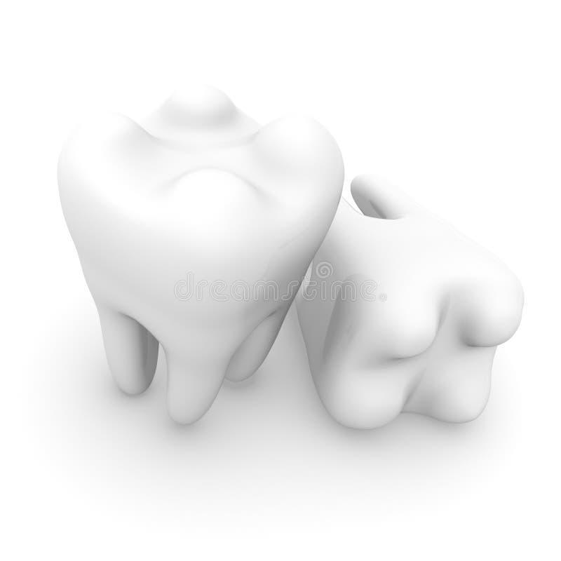 ludzcy zęby royalty ilustracja