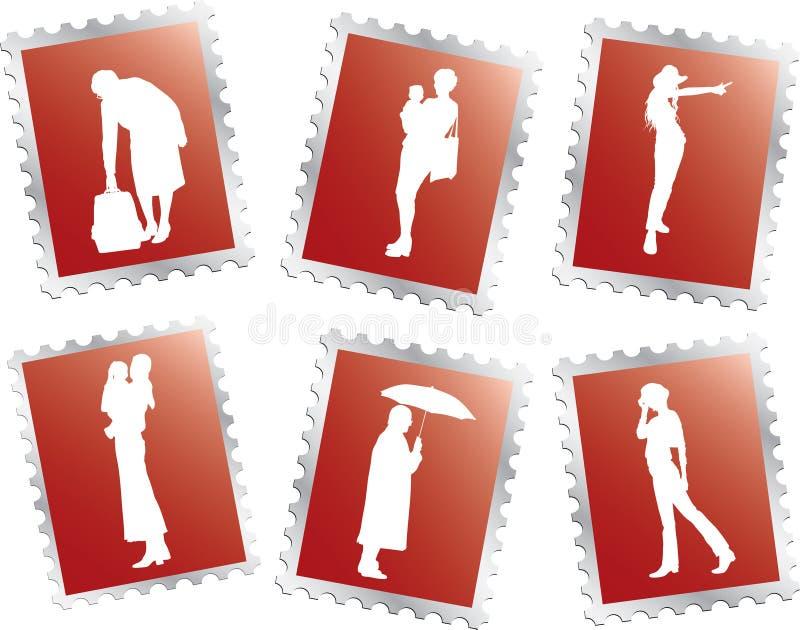 ludzi 20 ustalonych znaczków ilustracji