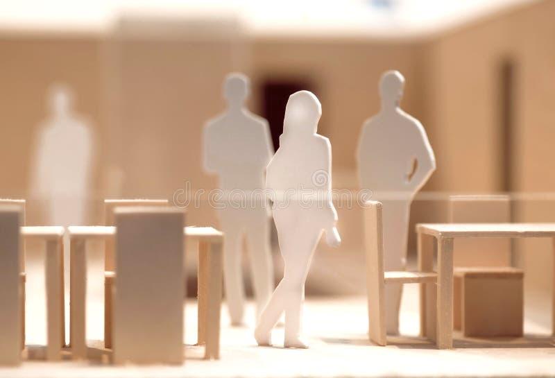 Ludzi, drewnianego, kartonowego układ, i, model ludzka komunikacja obrazy stock