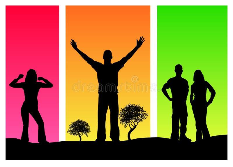 ludzi kolorowych ilustracji