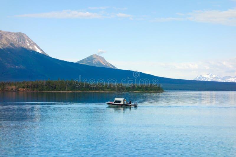 Ludzie łowi w Yukon terytorium zdjęcie royalty free