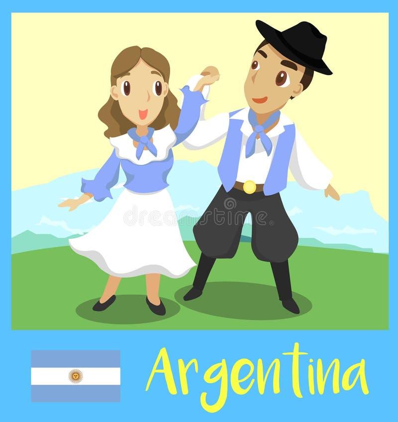 ludzie argentina ilustracja wektor