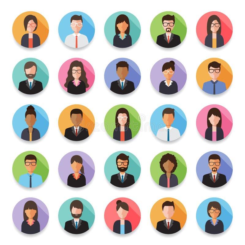 Ludzie avatar ikony royalty ilustracja