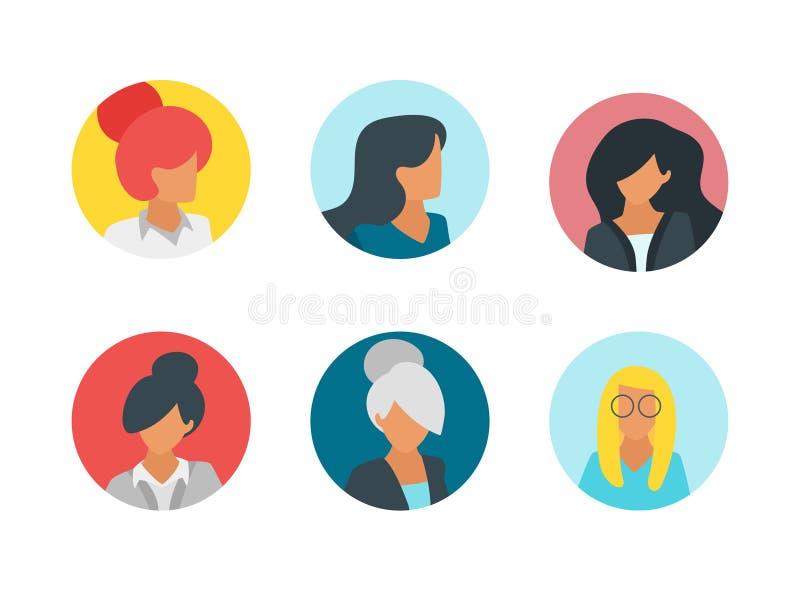 Ludzie avatar porteait ilustracja wektor