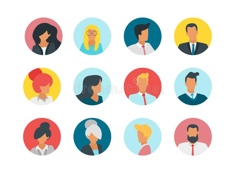 Ludzie avatar porteait ilustracji