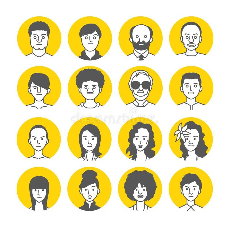 Ludzie Avatar twarzy ikon fotografia royalty free