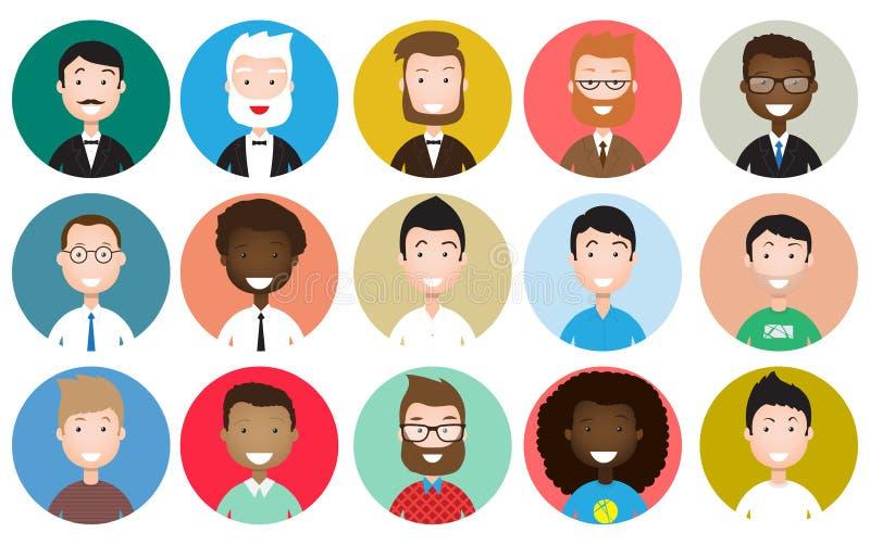 Ludzie avatars inkasowych ilustracja wektor