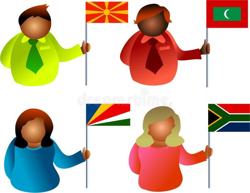 ludzie bandery royalty ilustracja