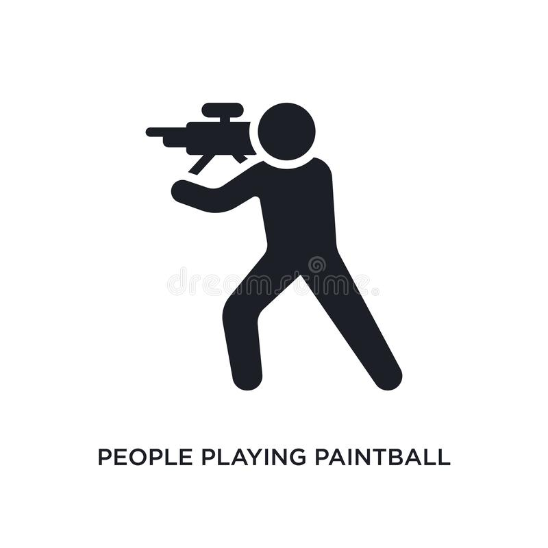 ludzie bawić się paintball odosobnioną ikonę prosta element ilustracja od rekreacyjnych gry pojęcia ikon Ludzie bawić się ilustracji