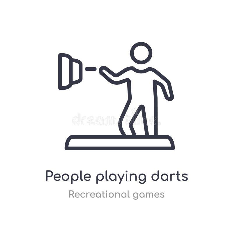 ludzie bawić się strzałka konturu ikonę odosobniona kreskowa wektorowa ilustracja od rekreacyjnych gier inkasowych editable cieni royalty ilustracja