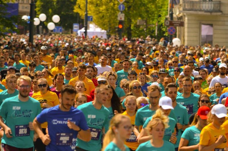 Ludzie biega dla najlepszy healht i dla sporta obraz stock