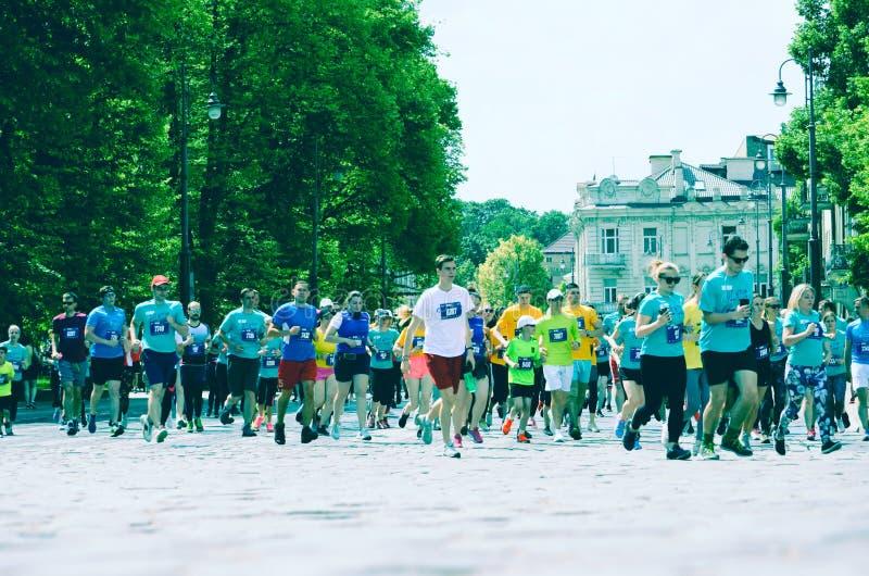Ludzie biega dla najlepszy healht i dla sporta obrazy royalty free