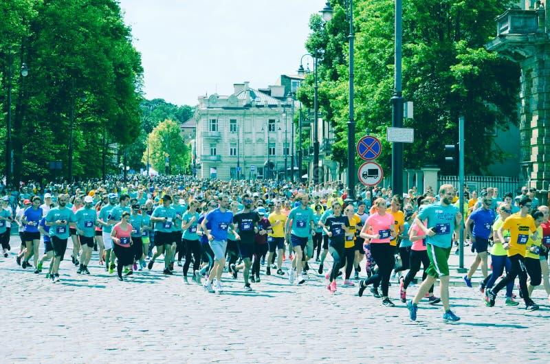 Ludzie biega dla najlepszy healht i dla sporta fotografia stock
