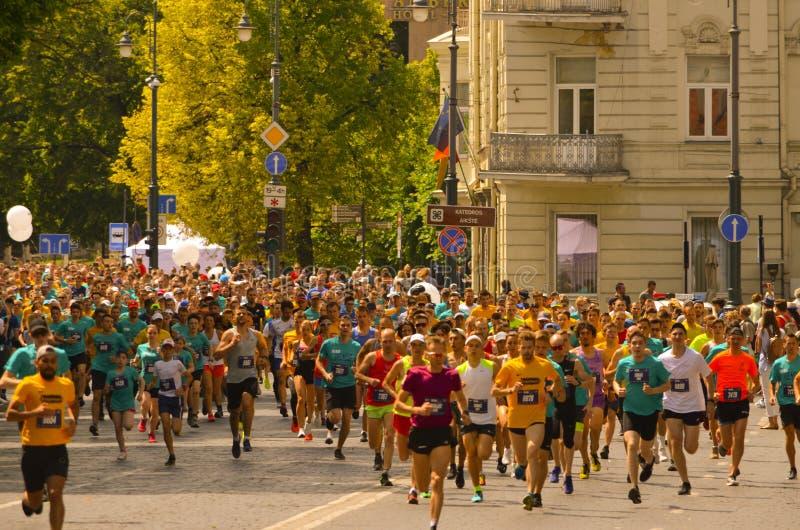 Ludzie biega dla najlepszy healht i dla sporta zdjęcie royalty free
