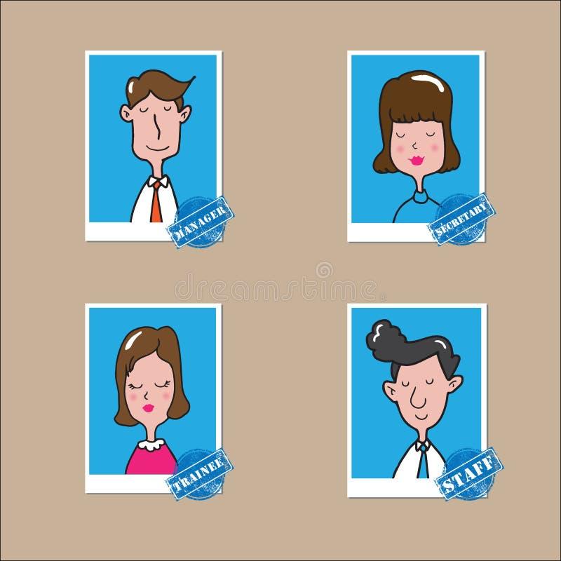 Ludzie biurowych mężczyzna i kobiety ilustracja wektor