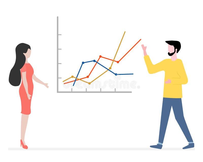 Ludzie Biznesowego spotkania, partnerstwa brainstorming ilustracja wektor