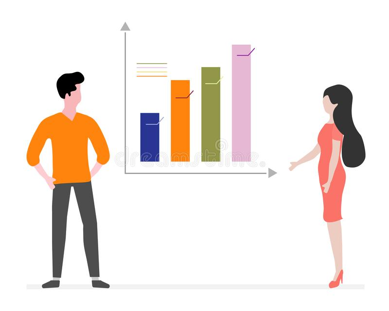 Ludzie Biznesowego spotkania, partnerstwa brainstorming royalty ilustracja