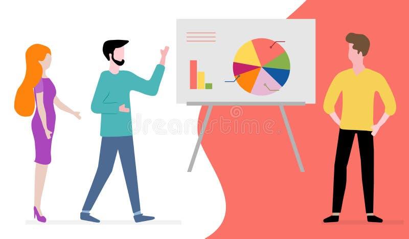 Ludzie Biznesowego spotkania, partnerstwa brainstorming ilustracji