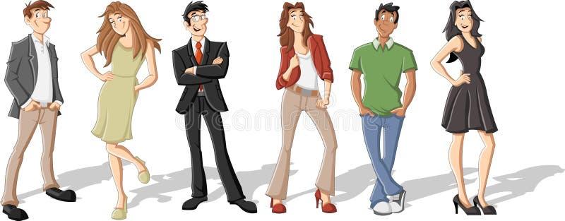 Ludzie biznesu royalty ilustracja