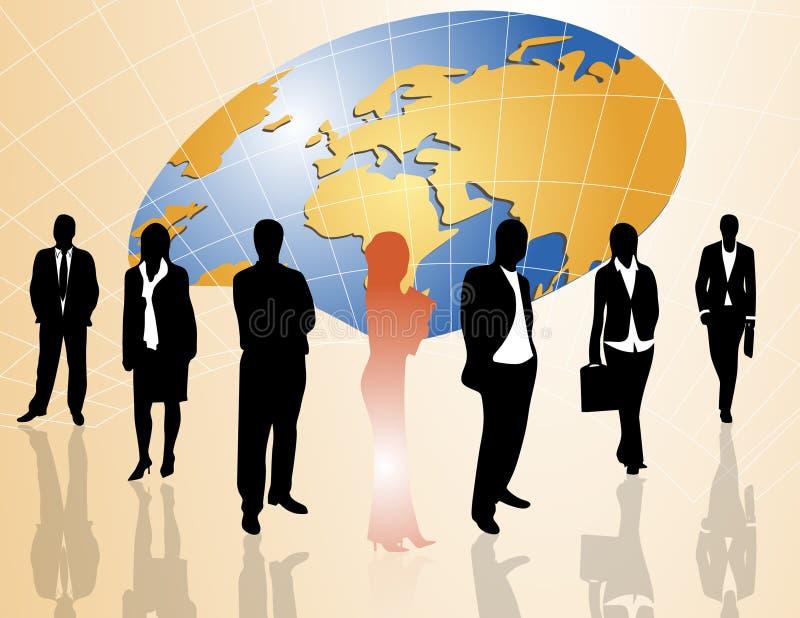 Download Ludzie biznesu ilustracja wektor. Obraz złożonej z spotkanie - 9249095