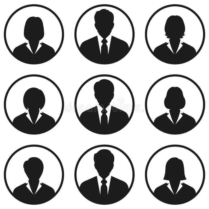 Ludzie biznesu avatar ikon na białym tle ilustracja wektor