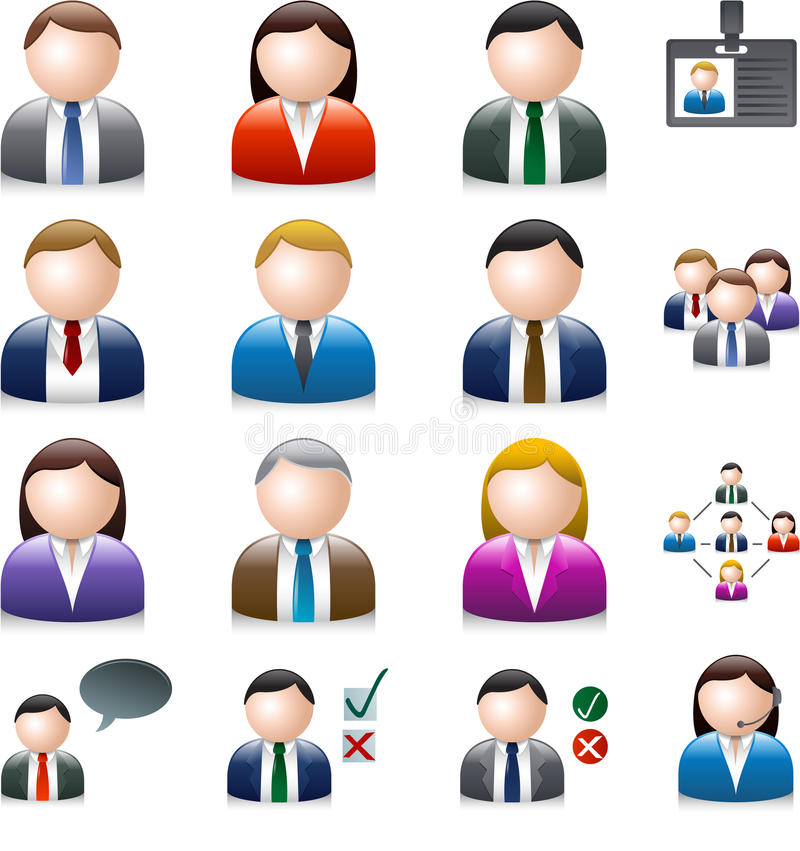Ludzie biznesu avatar odizolowywającego na bielu ilustracji