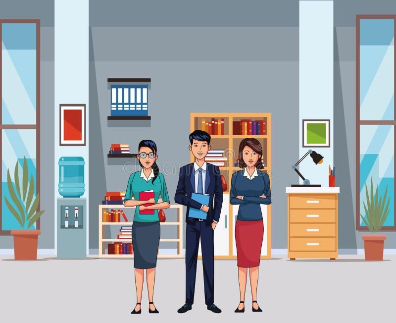 Ludzie biznesu avatar ilustracji
