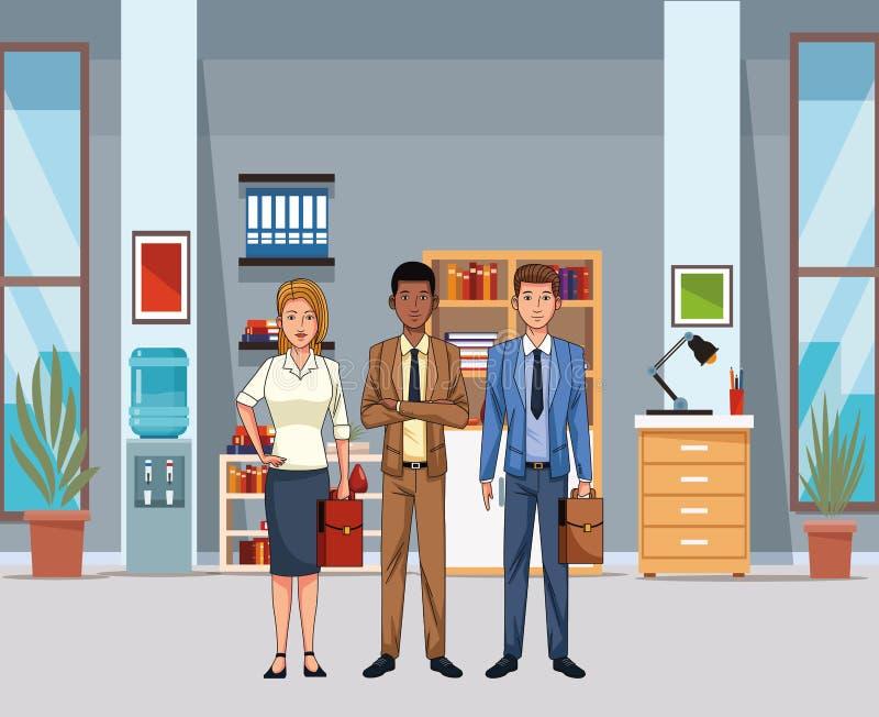 Ludzie biznesu avatar ilustracja wektor