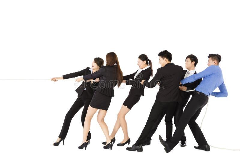 Ludzie Biznesu Bawić się zażartą rywalizację obrazy stock