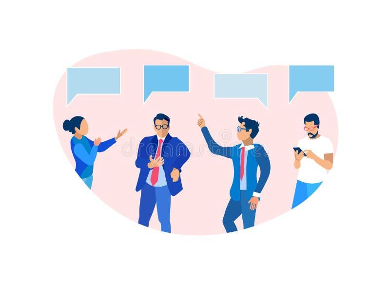Ludzie Biznesu Brainstorming Grupują Komunikować, royalty ilustracja