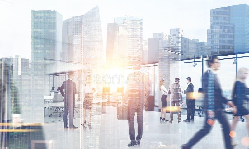 Ludzie Biznesu Chodzi W mieście ilustracji