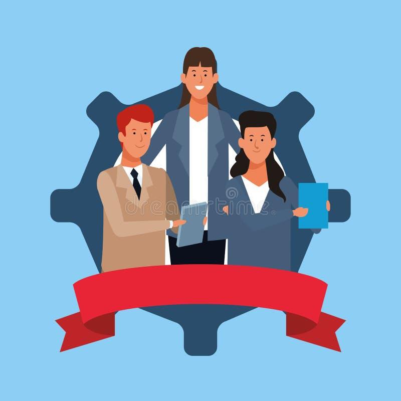 Ludzie biznesu coworking ilustracji