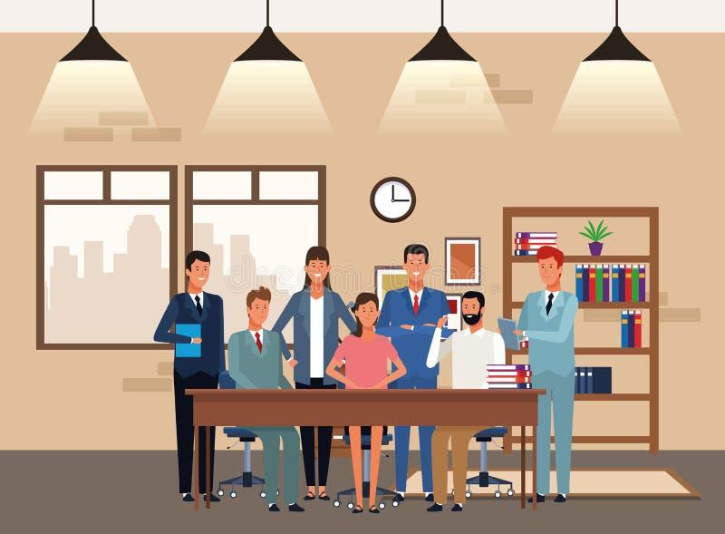 Ludzie biznesu coworking ilustracja wektor