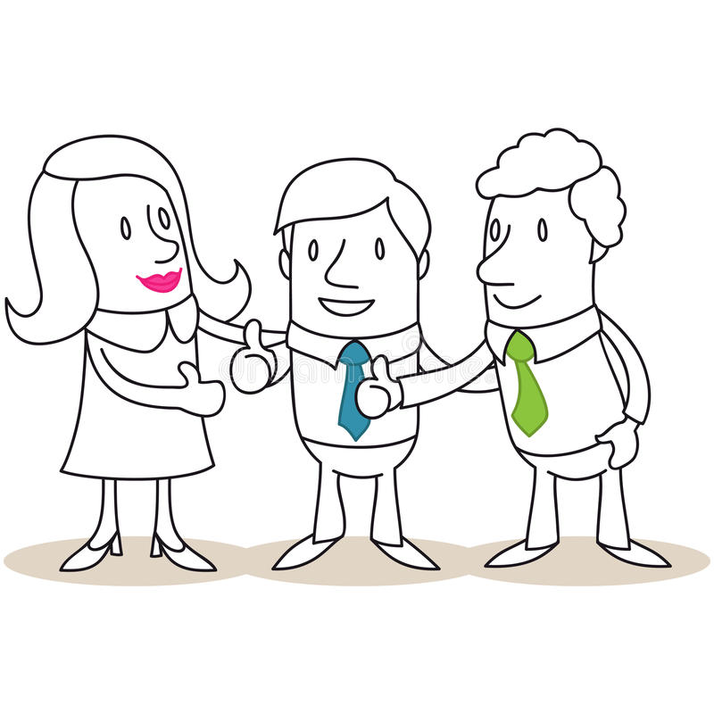 Ludzie biznesu daje aprobatom ilustracji