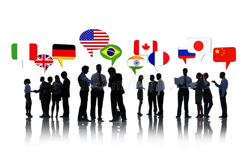 Ludzie Biznesu Dyskutuje stosunek międzynarodowy zdjęcia royalty free