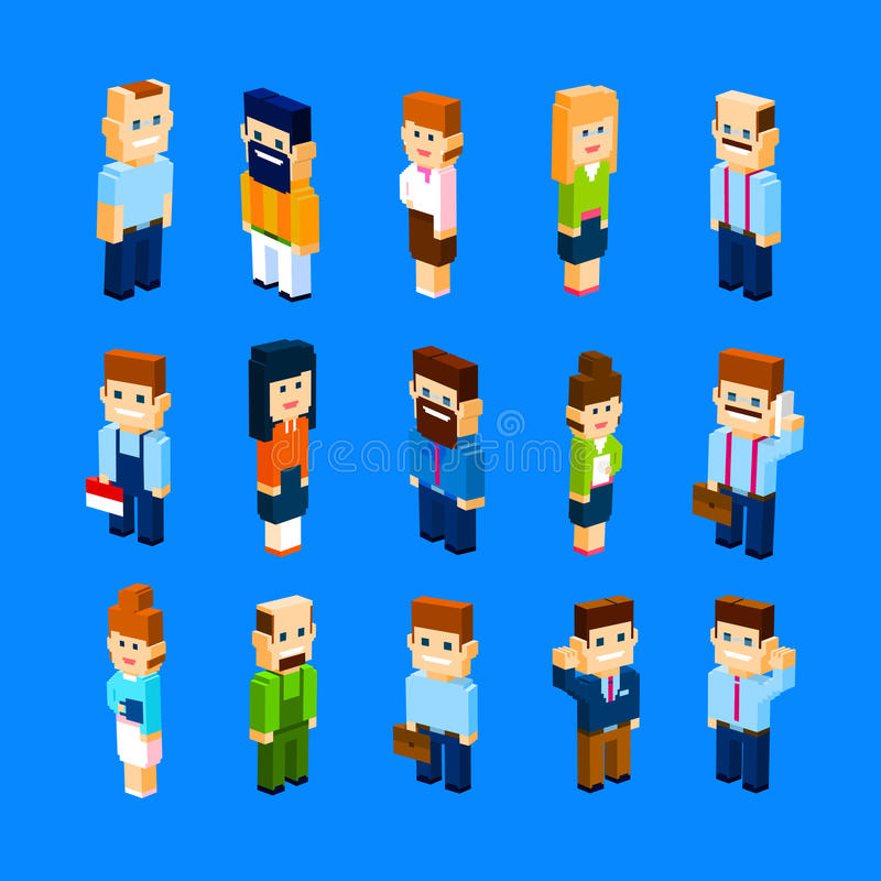 Ludzie Biznesu Grupują Ustaloną kolekcję 3d Isometric ilustracji
