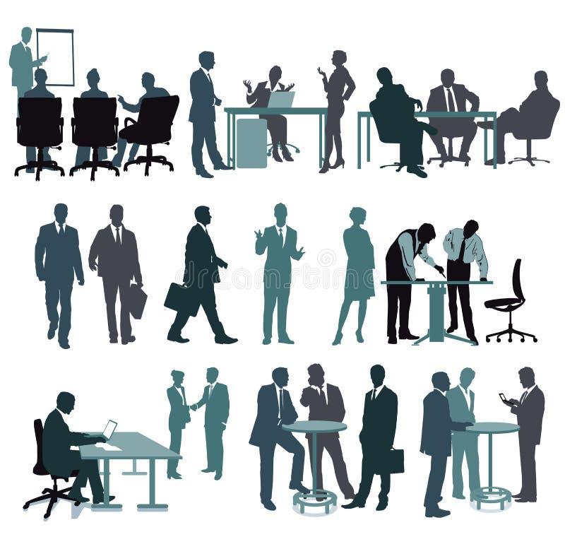 Ludzie biznesu i urzędnicy royalty ilustracja