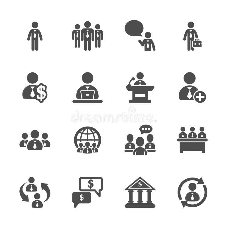Ludzie biznesu ikona setu, wektor eps10 ilustracja wektor