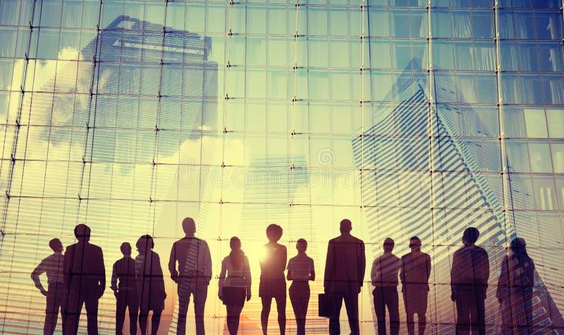 Ludzie Biznesu inspiracja celów misi sukcesu Wzrostowego pojęcia obrazy royalty free