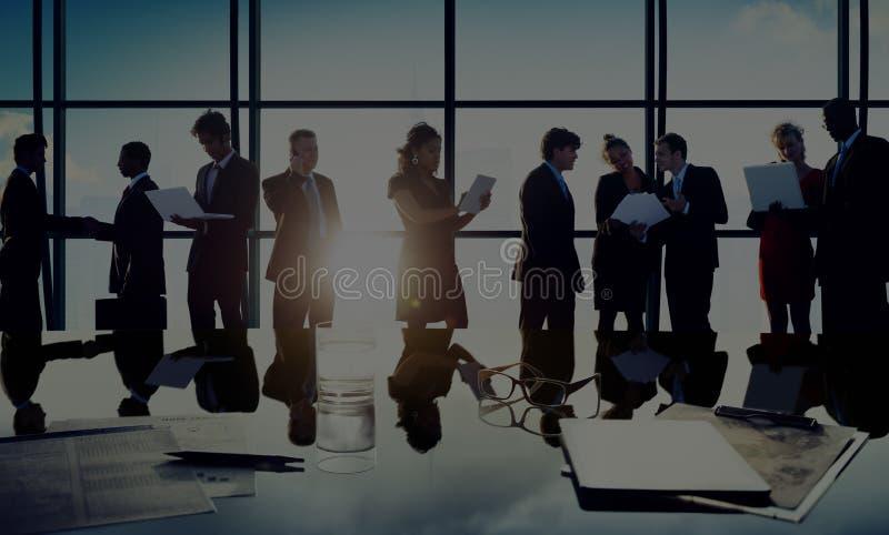 Ludzie Biznesu Komunikacyjnego planowanie planu pojęcia zdjęcia stock
