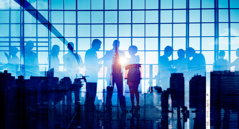 Ludzie Biznesu Korporacyjnego Podłączeniowego dyskusi spotkania pojęcia obrazy royalty free