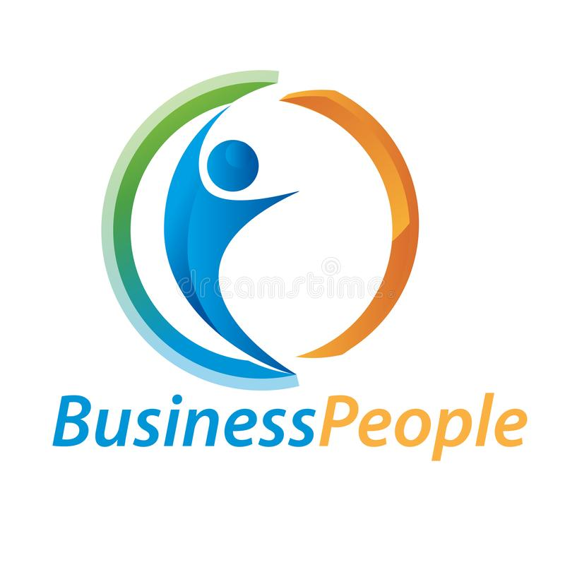 Ludzie biznesu logów Związek, istota ludzka ilustracja wektor