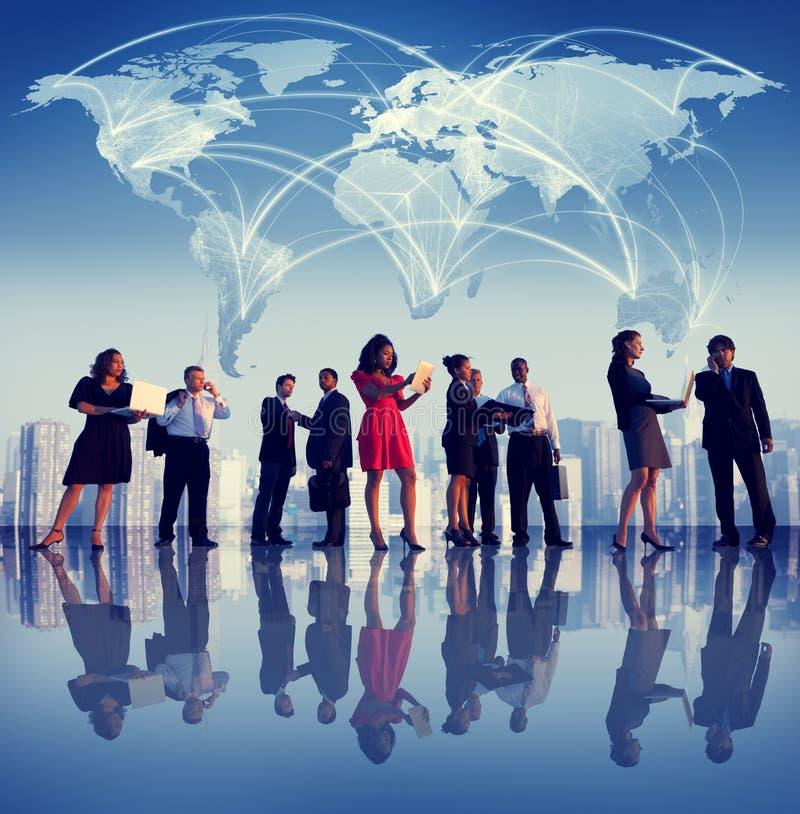 Ludzie Biznesu Nowy Jork spotkania Globalnych pojęć zdjęcia royalty free