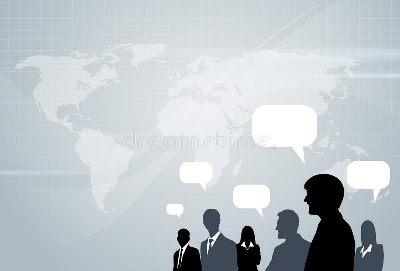 Ludzie Biznesu Ordynacyjny Grupowy Opowiadać ilustracji