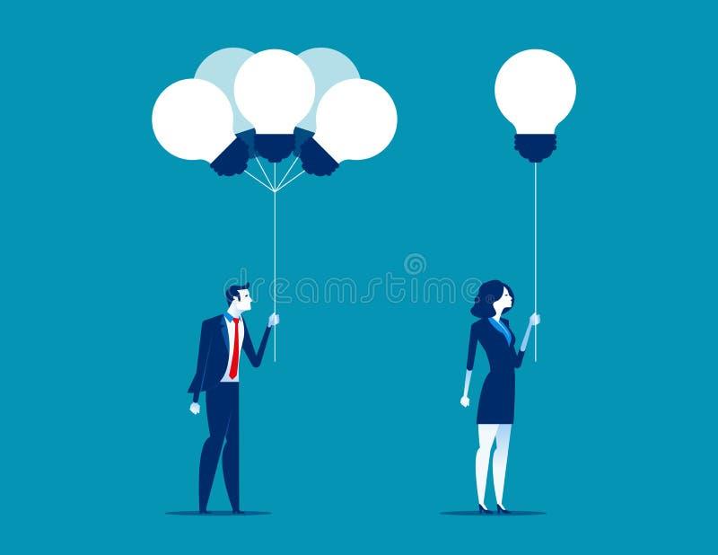 Ludzie biznesu otrzymywa pomysły od wiązki Pojęcie biznesu vec ilustracja wektor