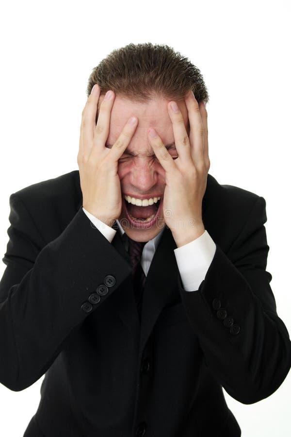 ludzie biznesu panika obrazy stock