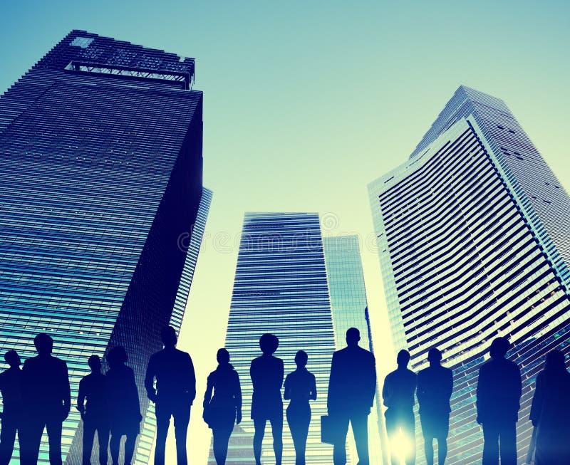 Ludzie Biznesu pejzaż miejski architektury budynku biznesu Metropo zdjęcie royalty free