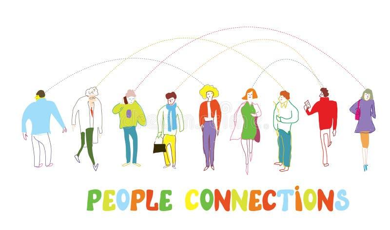 Ludzie biznesu pojęć - podłączeniowa ilustracja ilustracja wektor